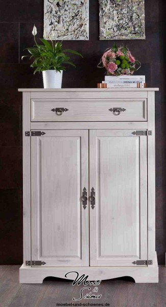 vertiko highboard massiv mexican wei landhausm bel ebay. Black Bedroom Furniture Sets. Home Design Ideas