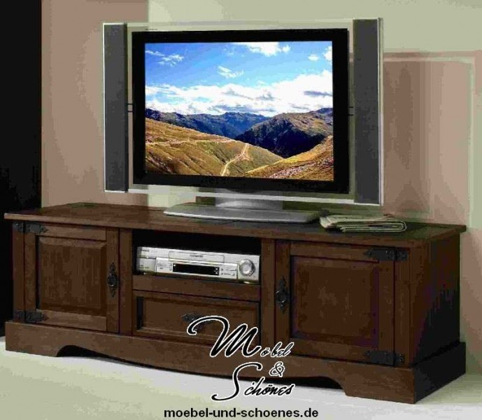 tv lowboard fernsehschrank 2525 mexican kiefer massiv. Black Bedroom Furniture Sets. Home Design Ideas
