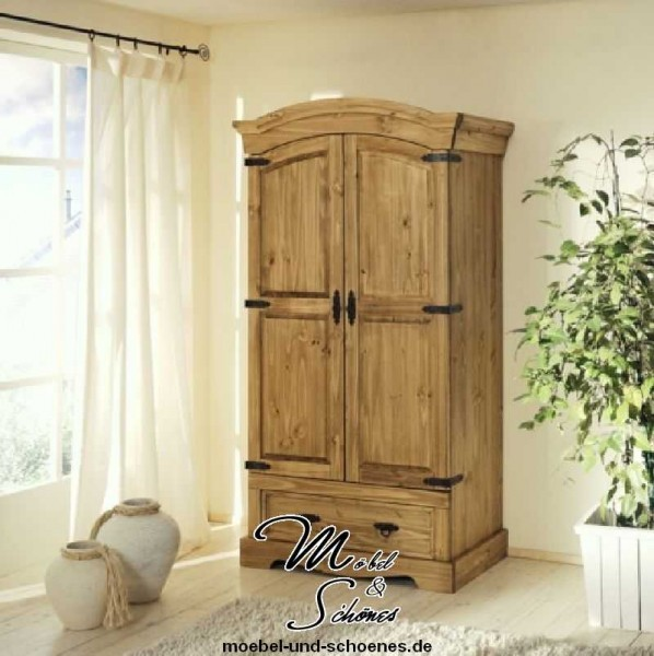 dielenschrank kleiderschrank mexican 1529 kiefer massiv. Black Bedroom Furniture Sets. Home Design Ideas