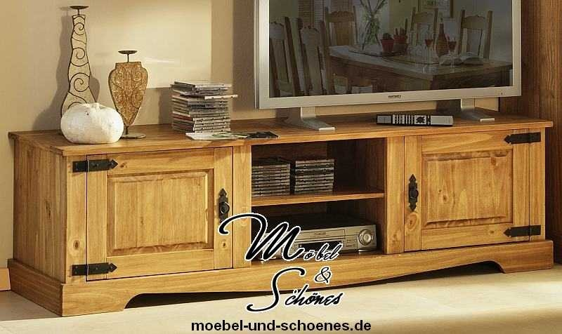 tv board tv m bel massiv mexican antik landhaus 180 cm ebay. Black Bedroom Furniture Sets. Home Design Ideas